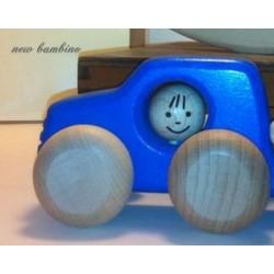 Voiture 4x4 en bois  bleu