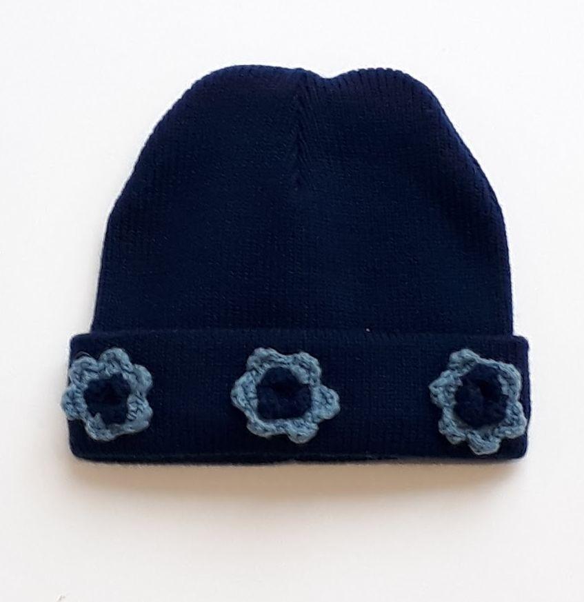 Bonnet Bleu marine 24-36  mois