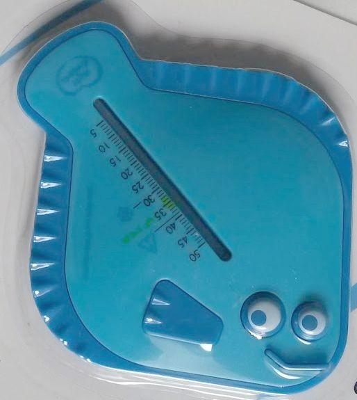 Thermomètre de bain bleu