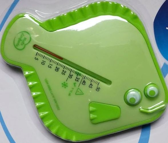 Thermomètre de bain vert