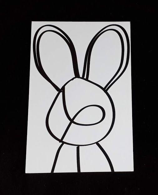 "Carte type postale ""Lapin"""