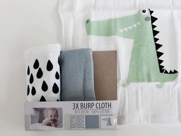 3 lingettes bébé en coton...