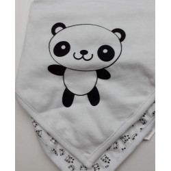 "2 Bavoirs Bandana ""Panda"""
