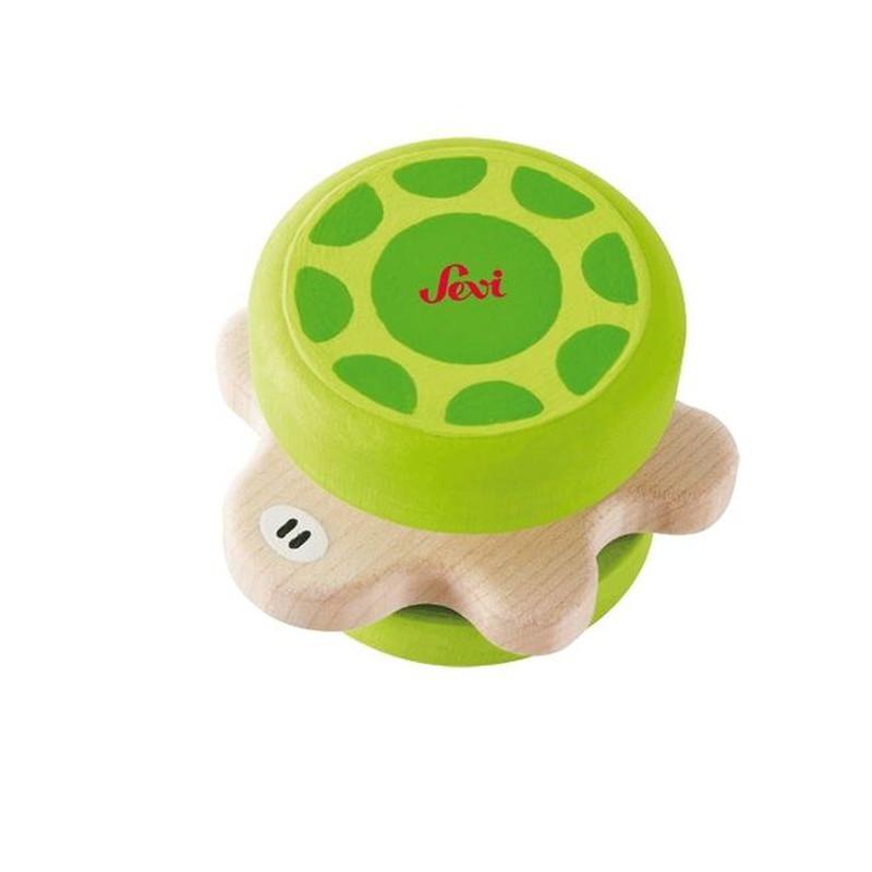 Hochet 'tortue' en bois dès 3 mois