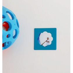 Mini cadre photo magnétique bleu