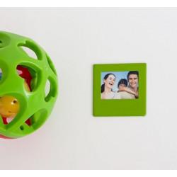 Mini cadre photo magnétique vert
