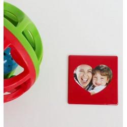 Mini cadre photo magnétique rouge