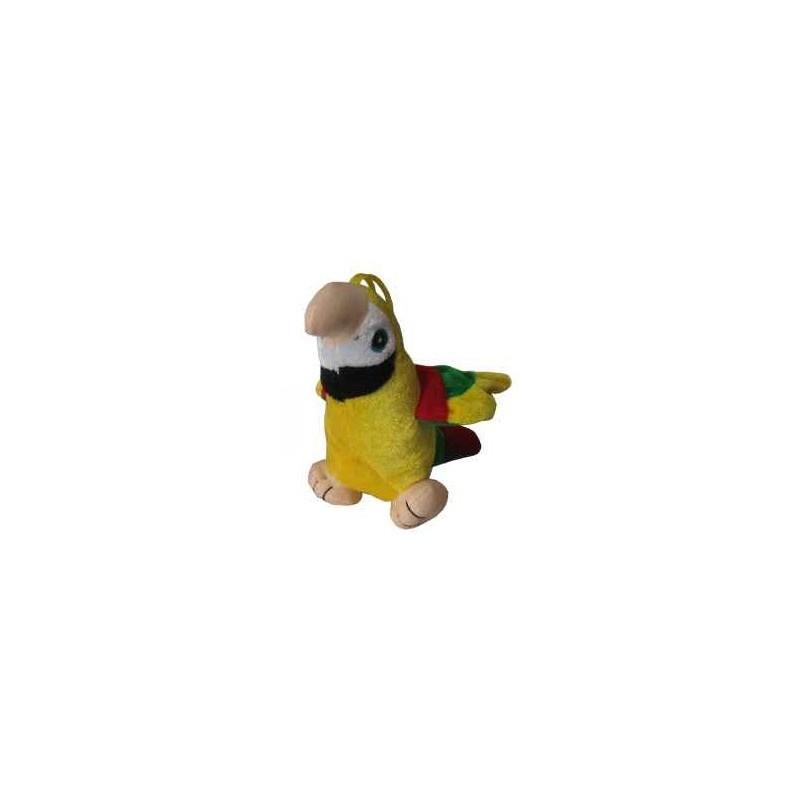Peluche 'perroquet' en jaune