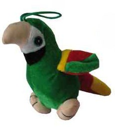 Peluche 'perroquet' en vert