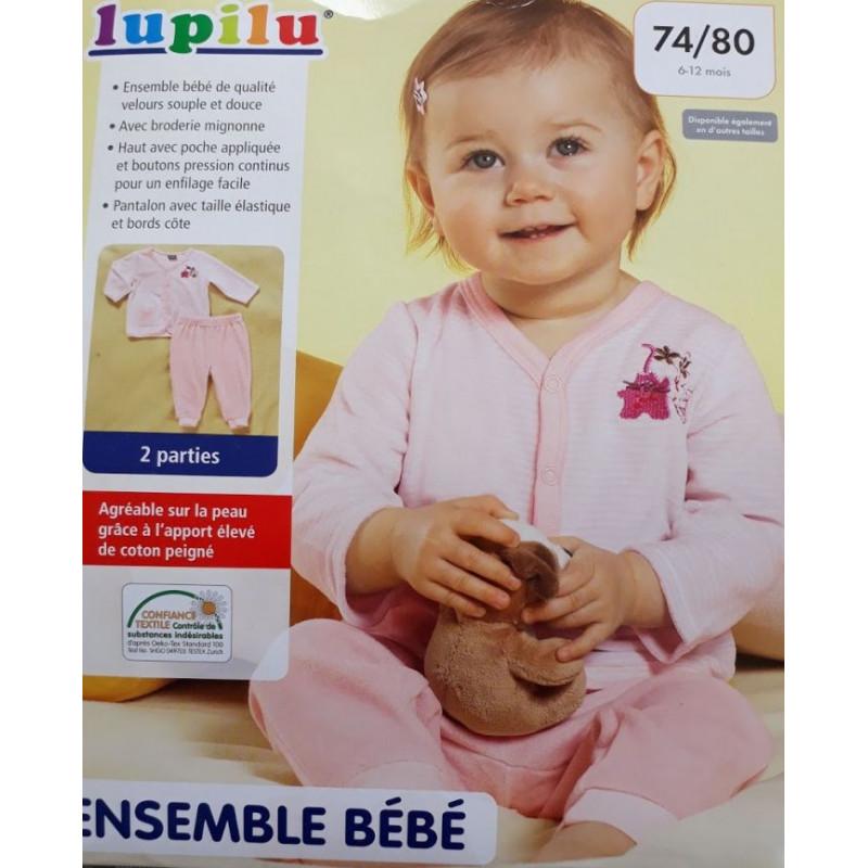Pyjama Rose 2 pièces en coton bio