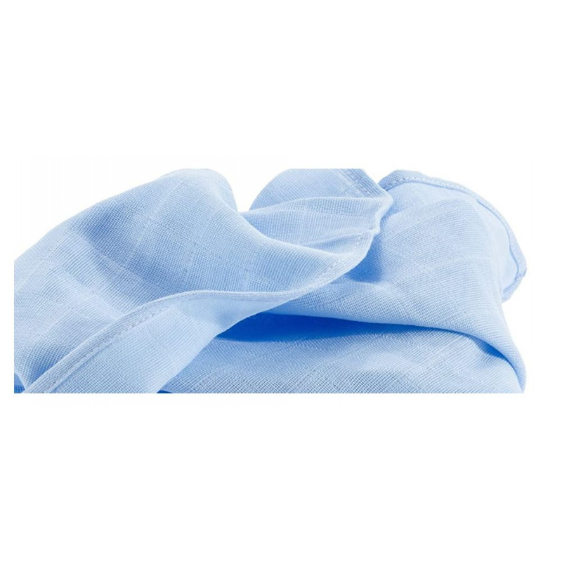 Lange en coton hydrophile bleu 70 cm