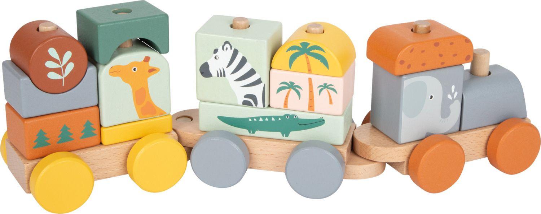 Train de cubes en bois...