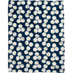 Plaid-couverture- Marguerites Printemps
