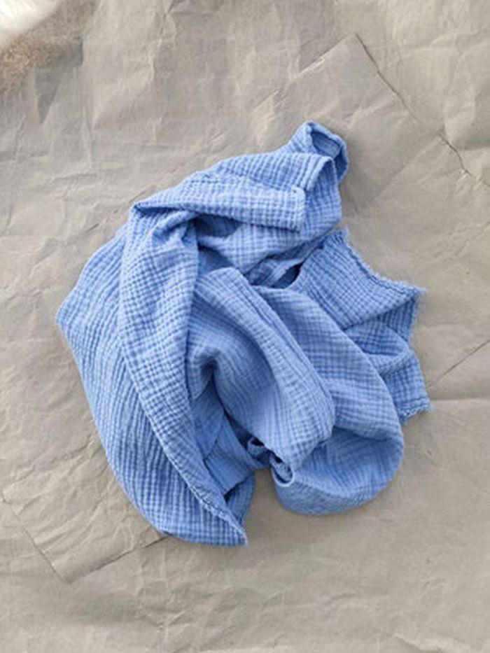Lange bleu-mousseline de coton