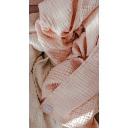 Lange rose saumon-mousseline de coton
