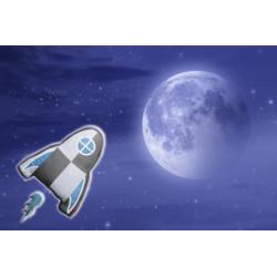 Boite à musique 'Fusée bleue'