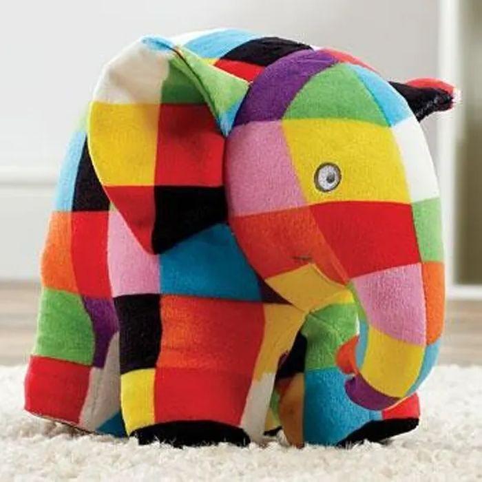 Elmer Peluche multicolore