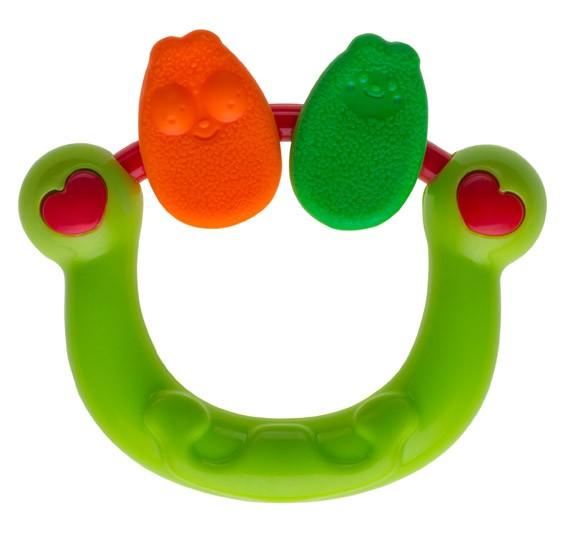 Hochet anneau vert
