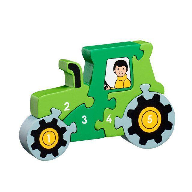 Puzzle en bois Tracteur vert