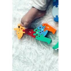Puzzle en bois Girafe Chiffres