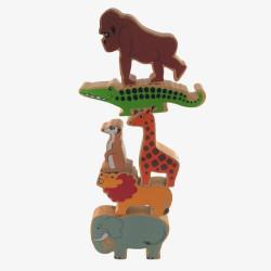 La tour des animaux de la jungle à empiler