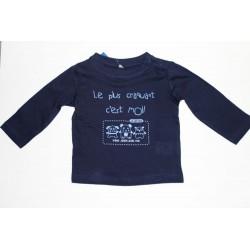 Tee-shirt manches longues bleu marine  12 mois
