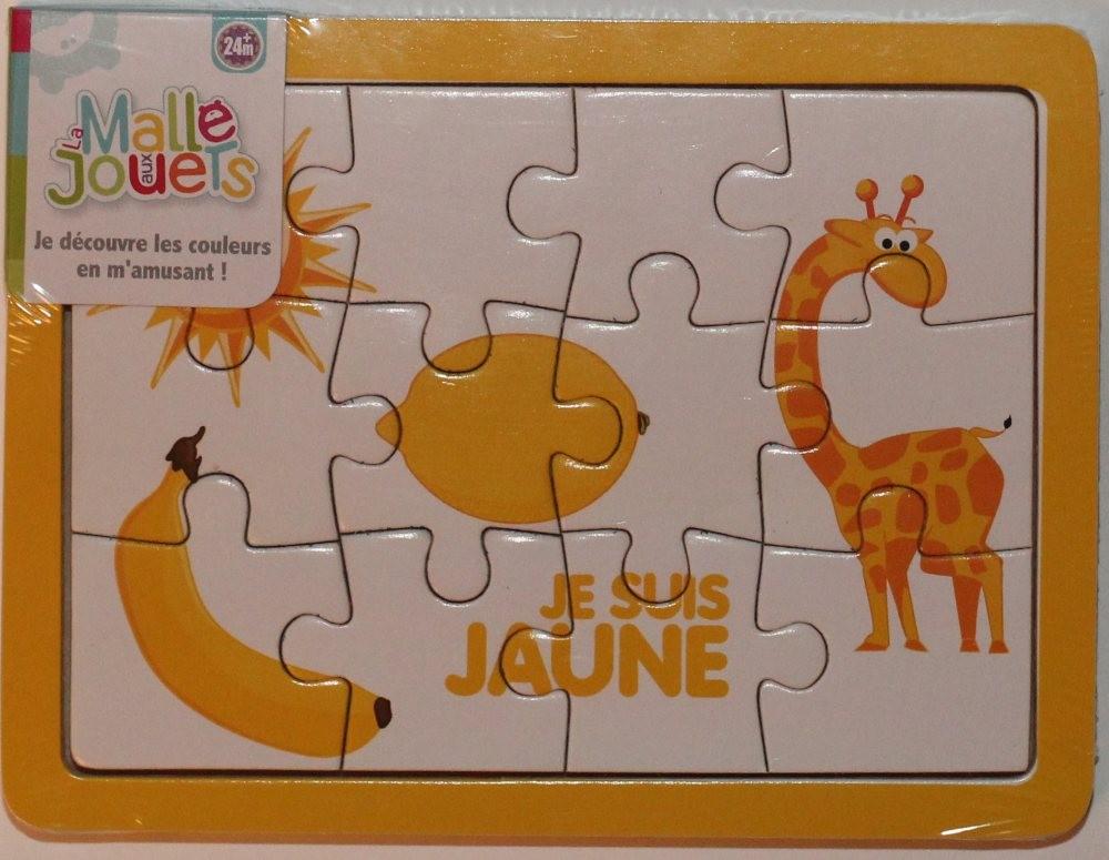 Puzzle en bois 'le jaune'