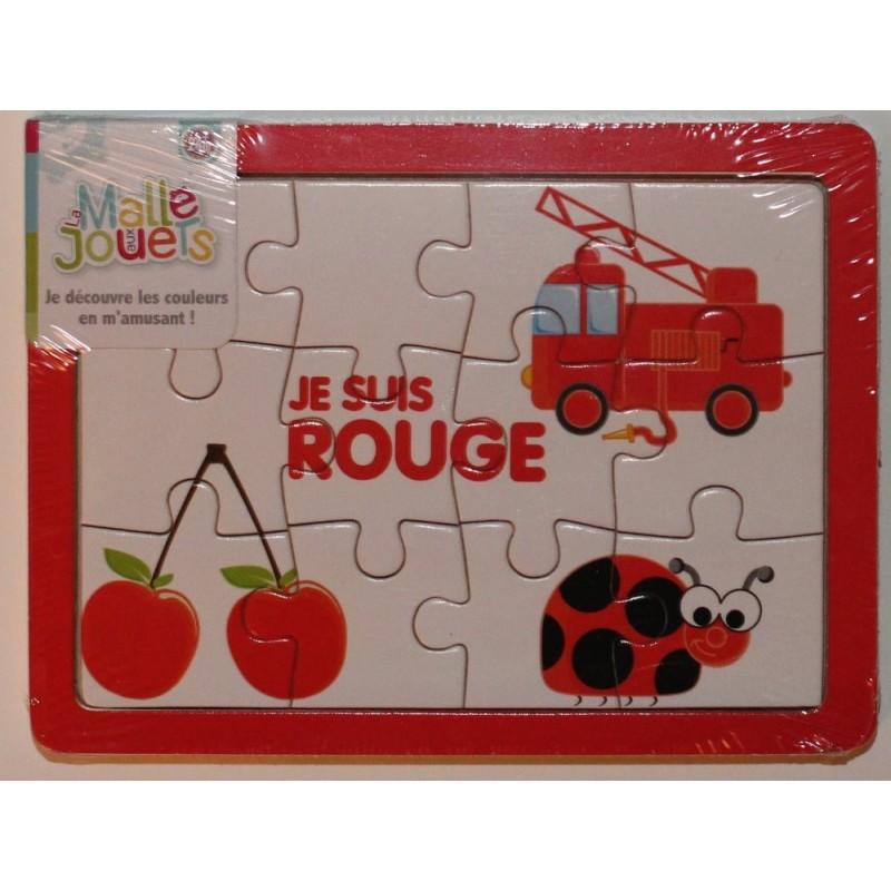 Puzzle en bois 'le rouge'