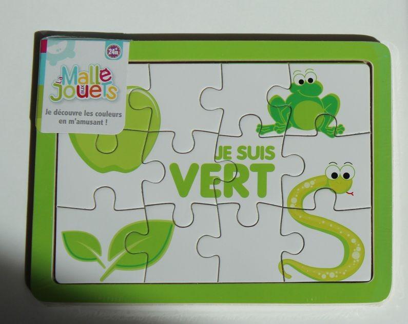 Puzzle en bois 'le vert'
