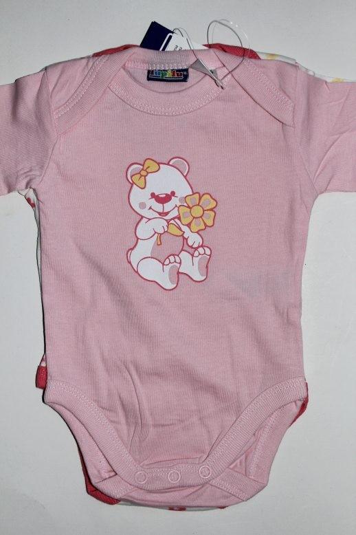 Body rose en coton 0-2 mois
