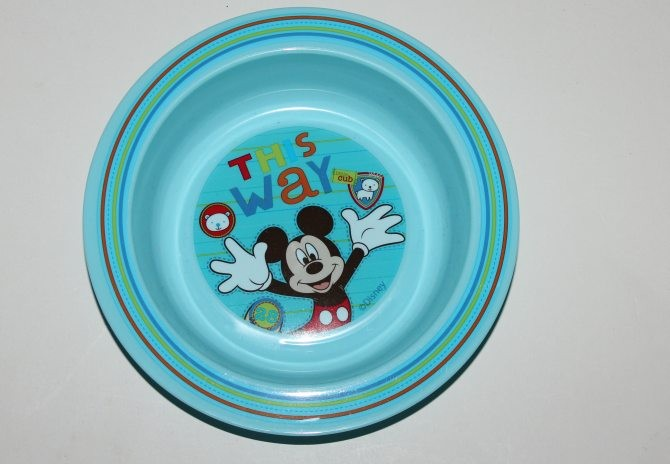 Assiette bleue 'Disney'