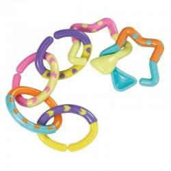 Hochet 6 anneaux colorés