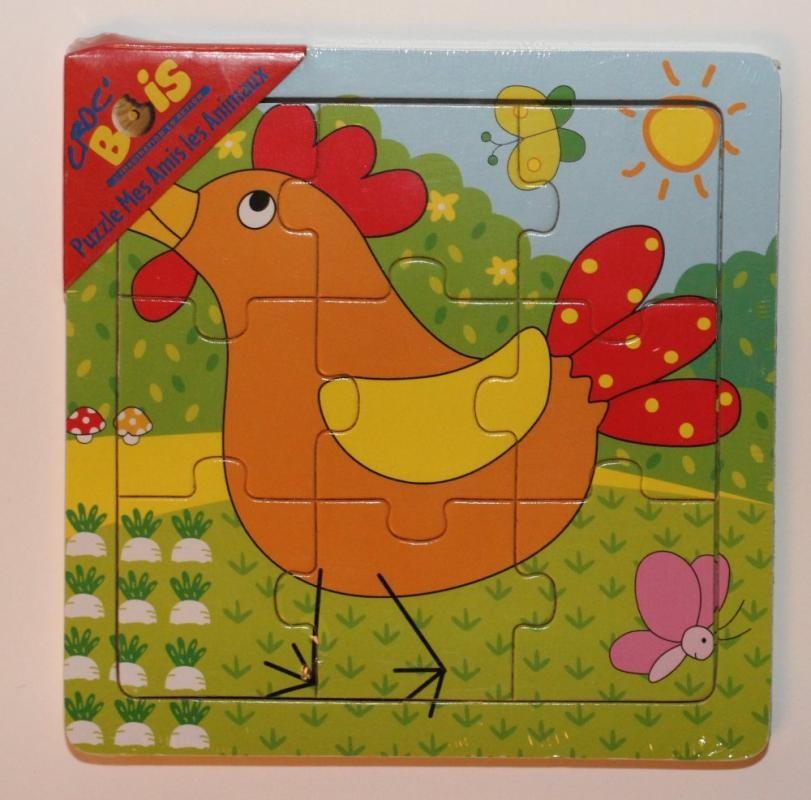 Puzzle en bois 'la poule'