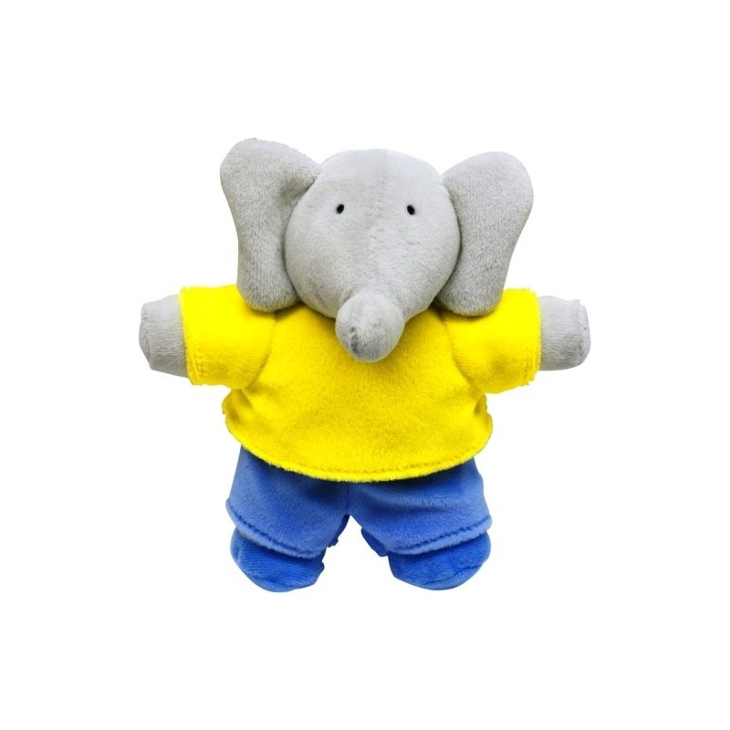 Peluche 'Babar' en bleu et jaune