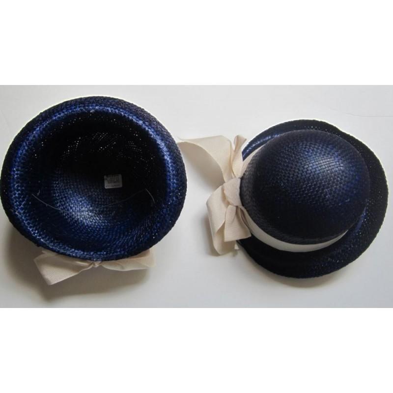 Chapeau de paille avec ruban écru