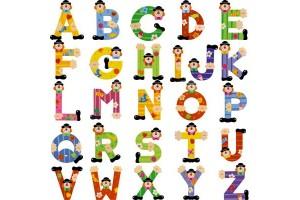 Lettres en bois clown SEVI